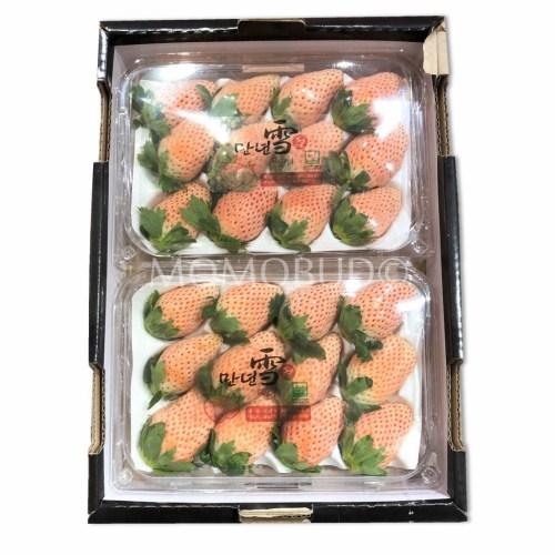 Korean Pink Snow Strawberry Tray