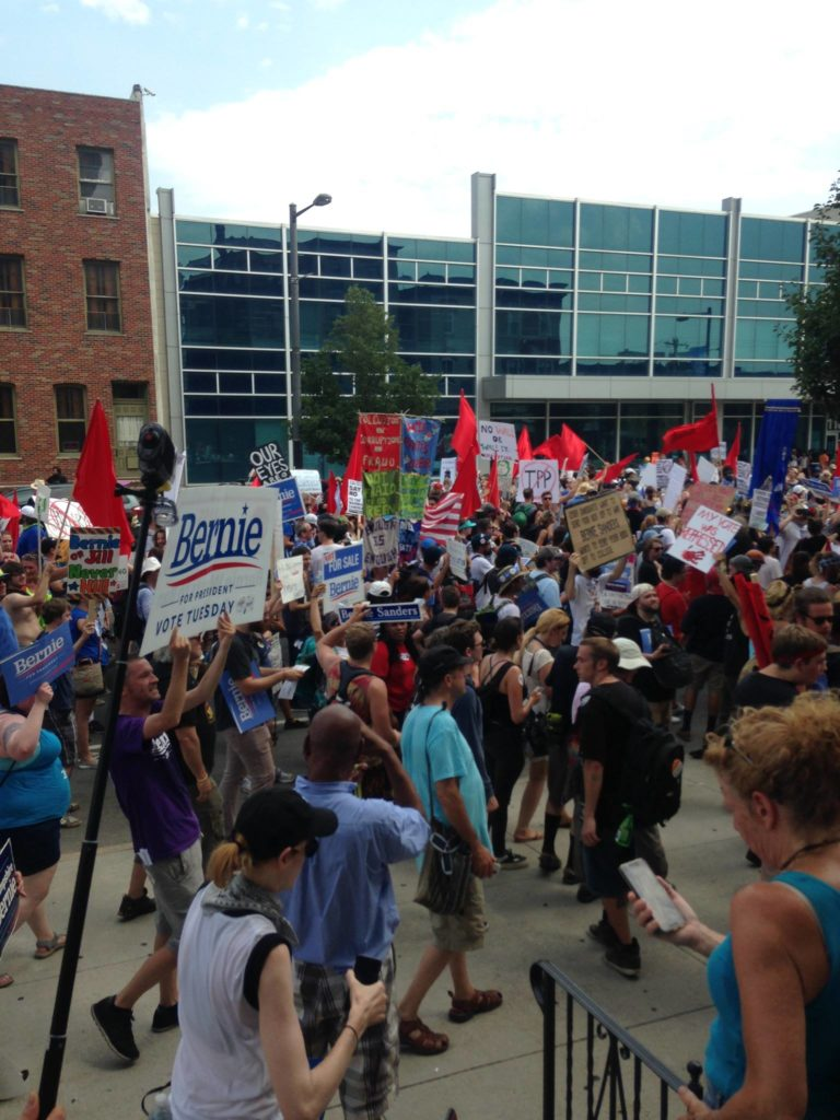 DNC Protest - Photo by Michael Flanagan