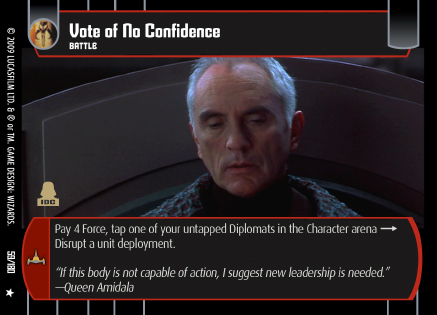 Vote of No Confidence in the Star Wars universe