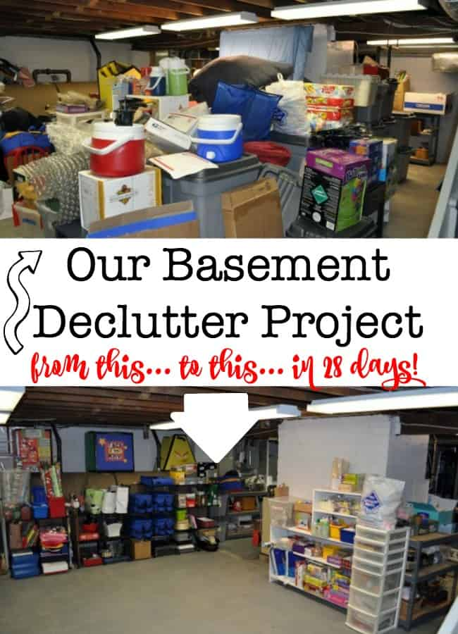 Basement Declutter Project With Before & After Pics