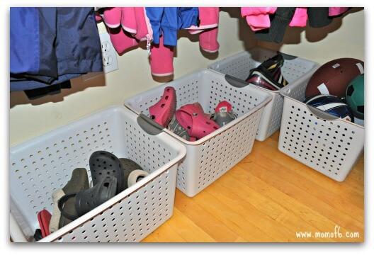 Kids Closet- shoe bins