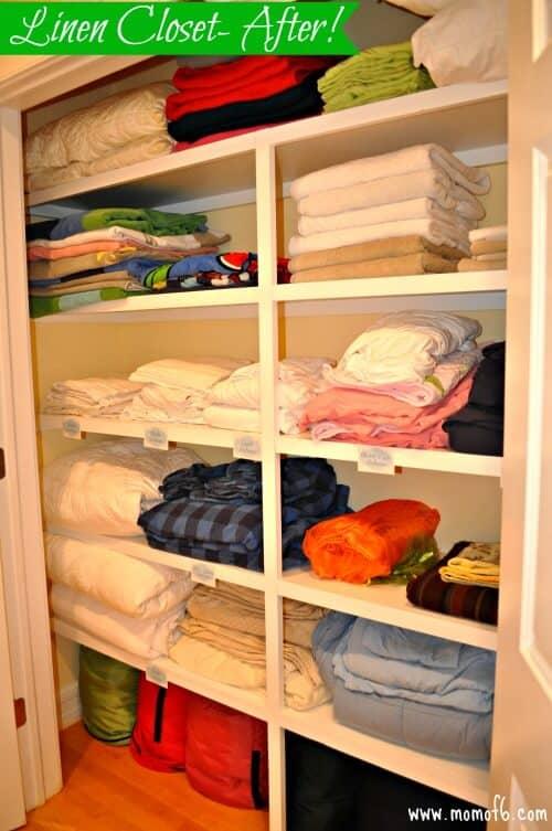 Linen Closet- after