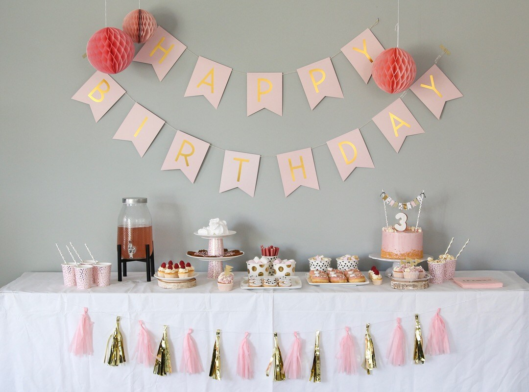 Pink & Gold sweet table