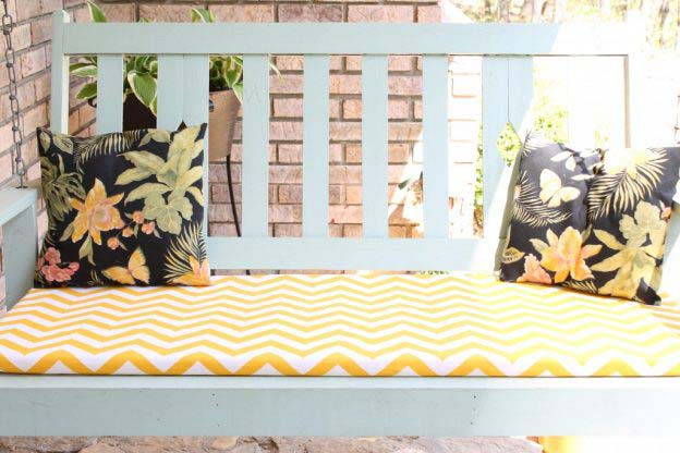 diy chair cushion no sew toddler girl table and chairs swing or