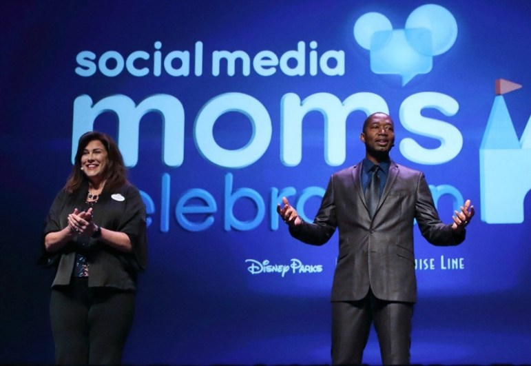 Leanne O'Regan, Director Communications and Public Relations Walt Disney World Resort and Mark Daniel Social Media Host Disney Parks & Resorts - Photo credit Disney Photographer Alex Mirabal - Magic and Motivation Disney Social Media Moms Conference