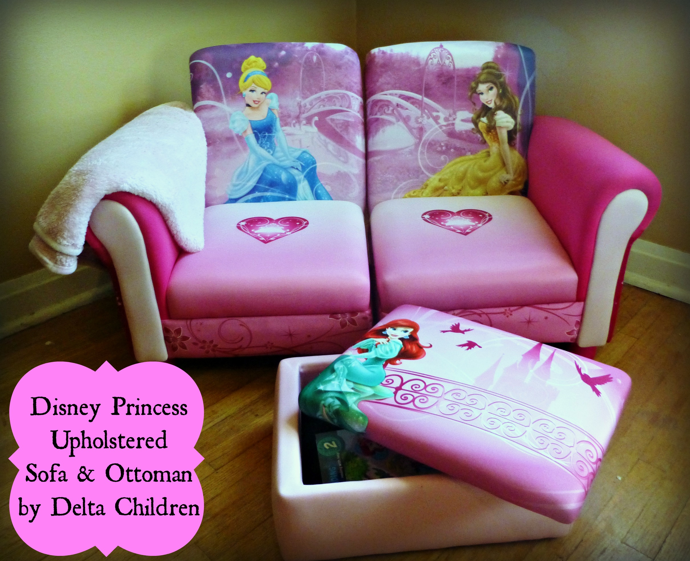 disney princess flip out sofa chair with ottoman  thesofa