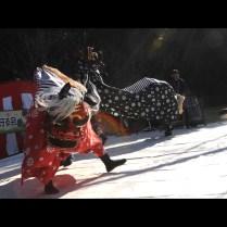 (岡山)神道山にて獅子舞・吉備の中山を守る会