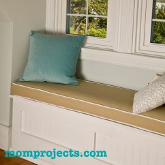 How Much Fabric To Cover A Chair Cushion Outdoor Wooden Plans Make Window Seat With Piping Mom Projects Piped
