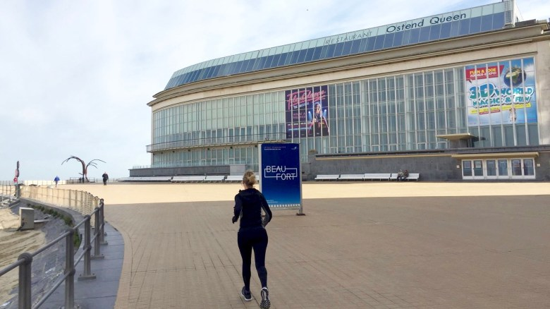 Moms Run The City in Oostende met Jean Coens, Kursaal