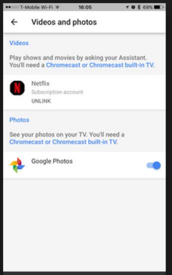 Google Assistant and Netflix