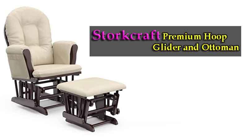 Storkcraft Premium Hoop Glider and Ottoman