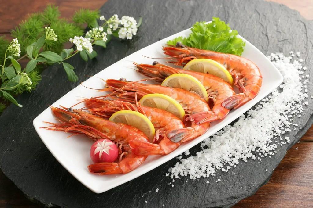 shrimp, seafood, sea