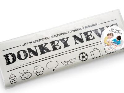 Kleuren in je eigen krant? Dat kan met DONKEY NEWS!