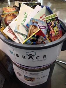 Books in bin