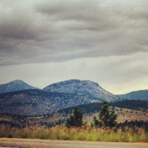 A view of the mountains on our way to Idaho Springs