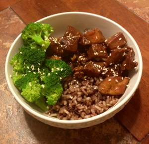 Sesame Honey Chicken; recipe adapted from 365 Slow Cooker Suppers