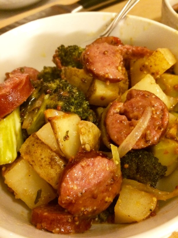 Hillshire Farm Smoked Sausage and Potatoes with Broccoli