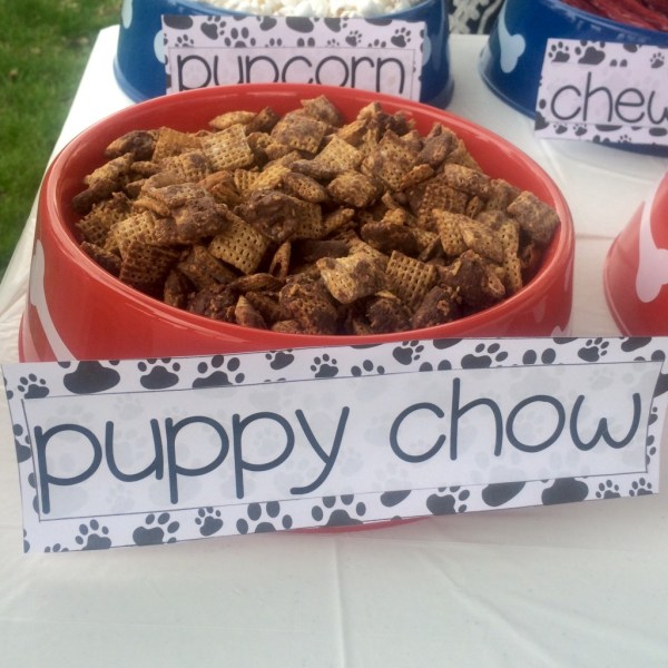 paw patrol birthday party ideas nutella puppy chow recipe