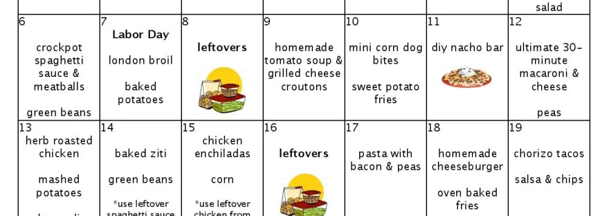 moms bistro september menu plan whats for dinner #monthofmeals kid friendly meal plan