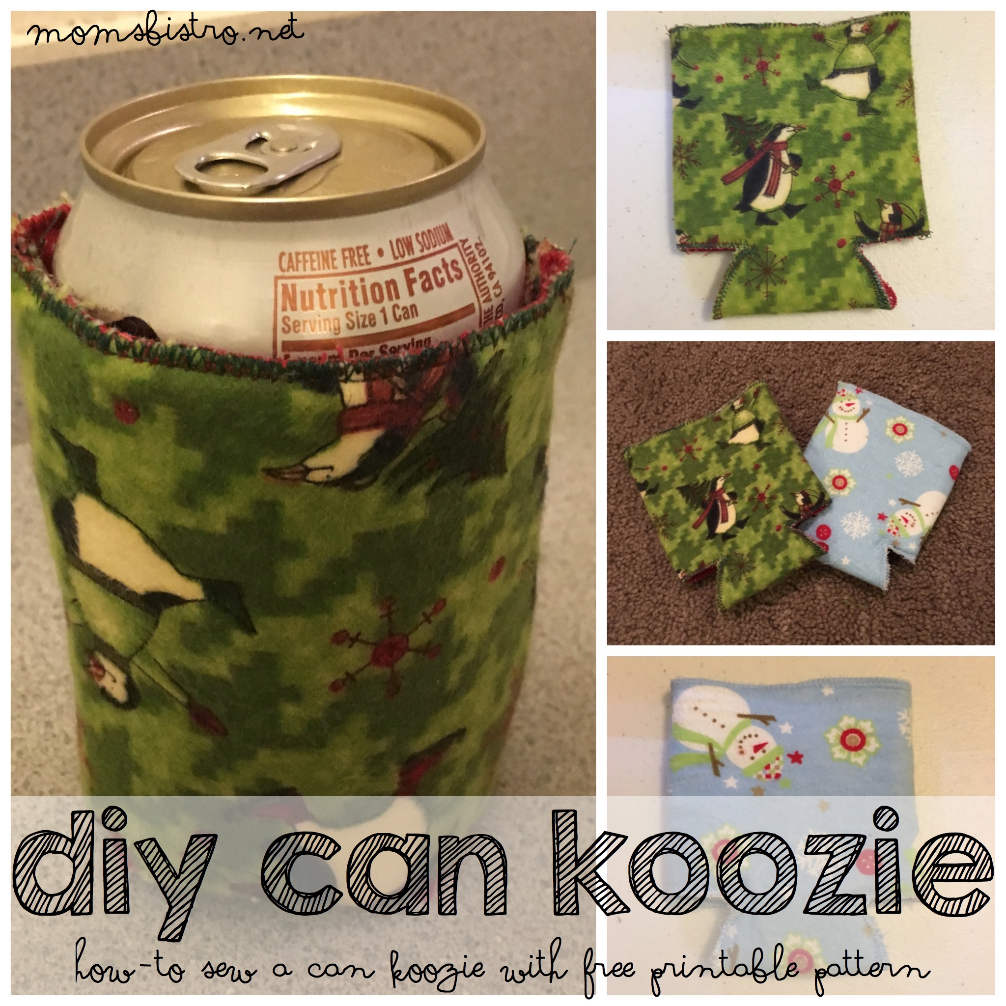 Christmas Koozies.Are You Ready For The Holidays Learn How To Make Your Own