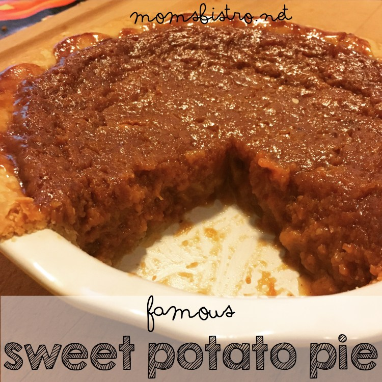 famous sweet potato pie moms bistro best sweet potato pie ever recipe easy thanksgiving