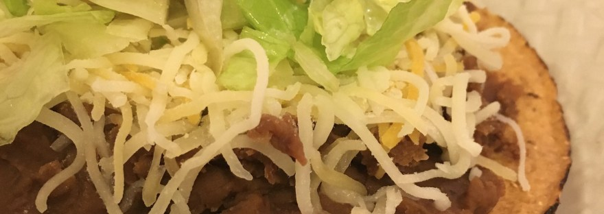 15 minute dinner bean refried beans tostada taco recipe moms bistro week night dinner easy