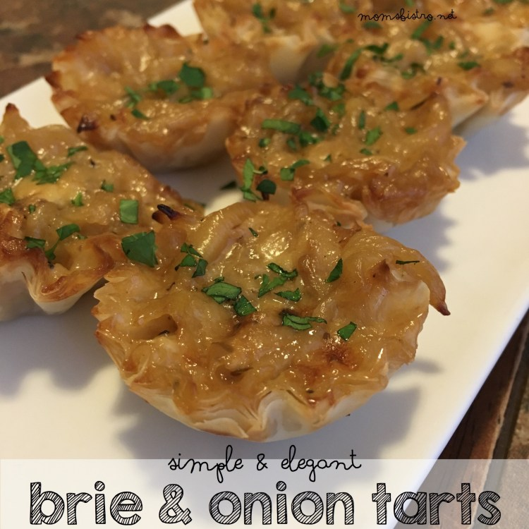 brie and onion tarts