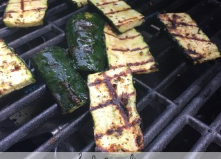 herb and garlic grilled zucchini