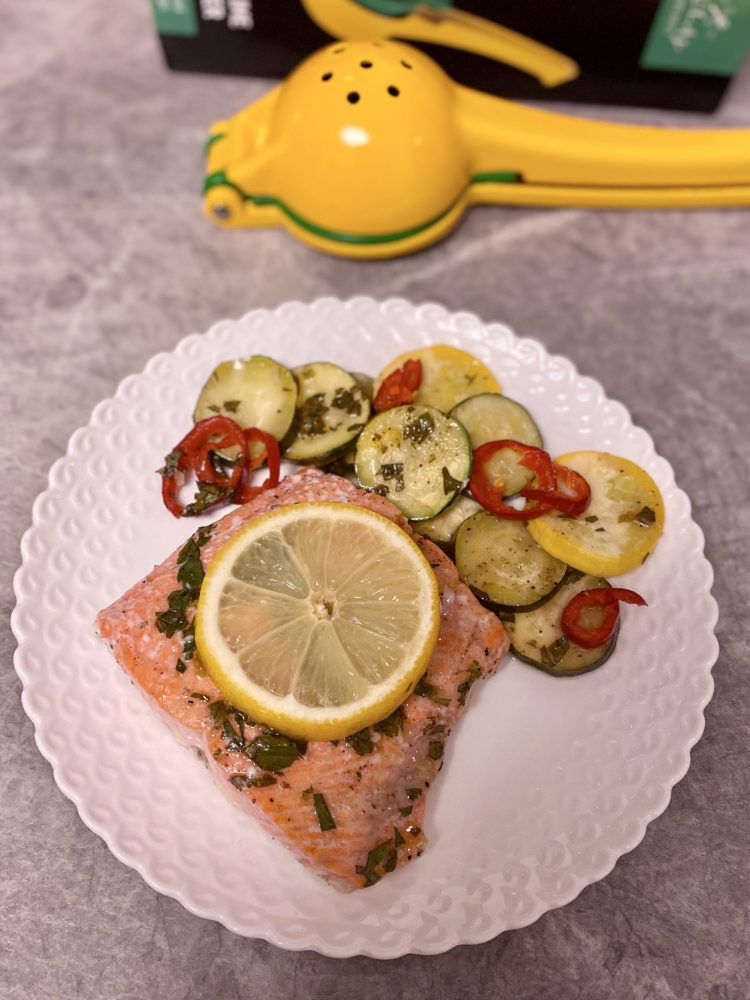 Sheet Pan Lemon Garlic Salmon Recipe