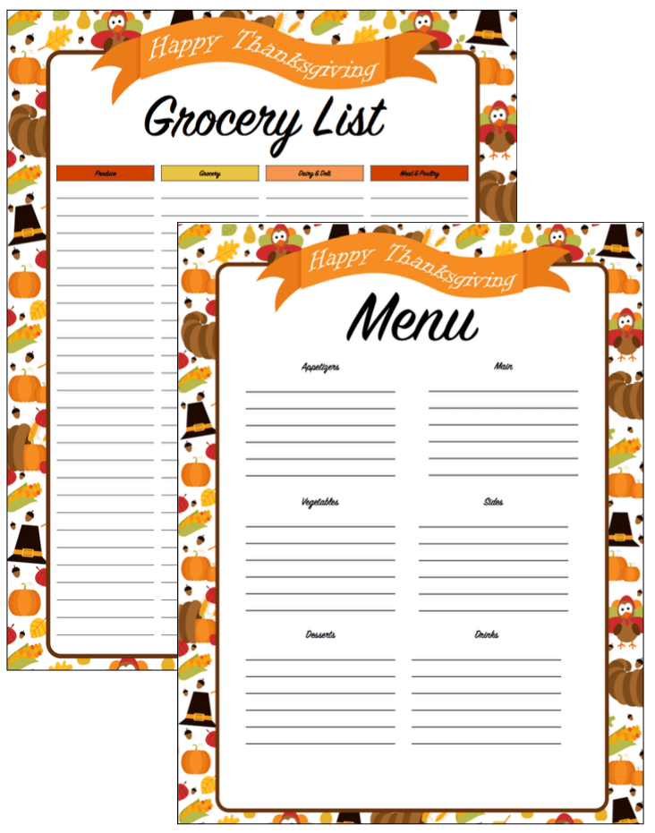 photo regarding Thanksgiving Menu Planner Printable called Thanksgiving Planner Archives - Mothers Bistro