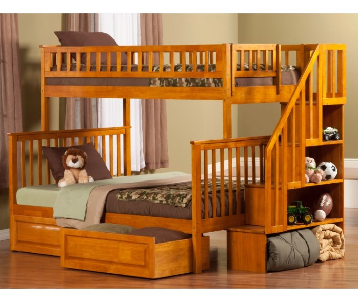 bunk bed with stairs