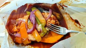 BBQ Chicken in Parchment