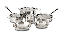 All Clad 10 piece stainless steel cookware