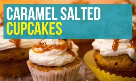 Banana Vanilla Cupcakes with Salted Caramel