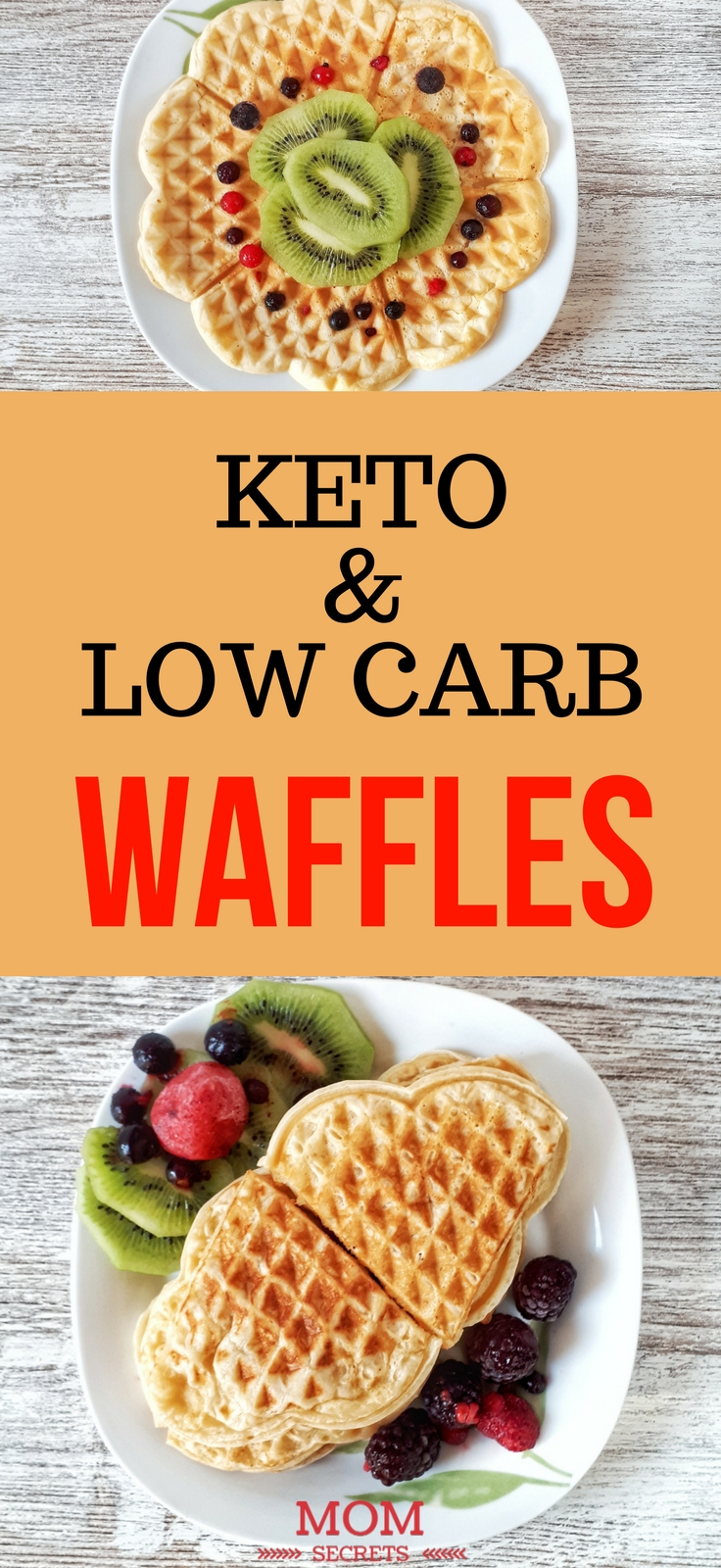 These keto and low carb waffles with almond flour and they are totally healthy. They are so fluffy and easy and quick to make. Just perfect!