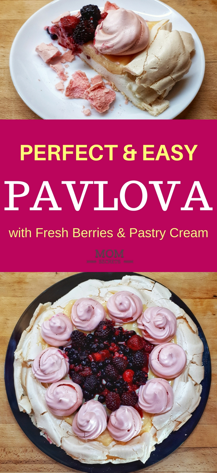 Pavlova is the most elegant dessert in the whole world. This pavlova recipe is so easy to make and the crispy-chewy merengue base is so yummy… it´s simple and just perfect to impress our guests.