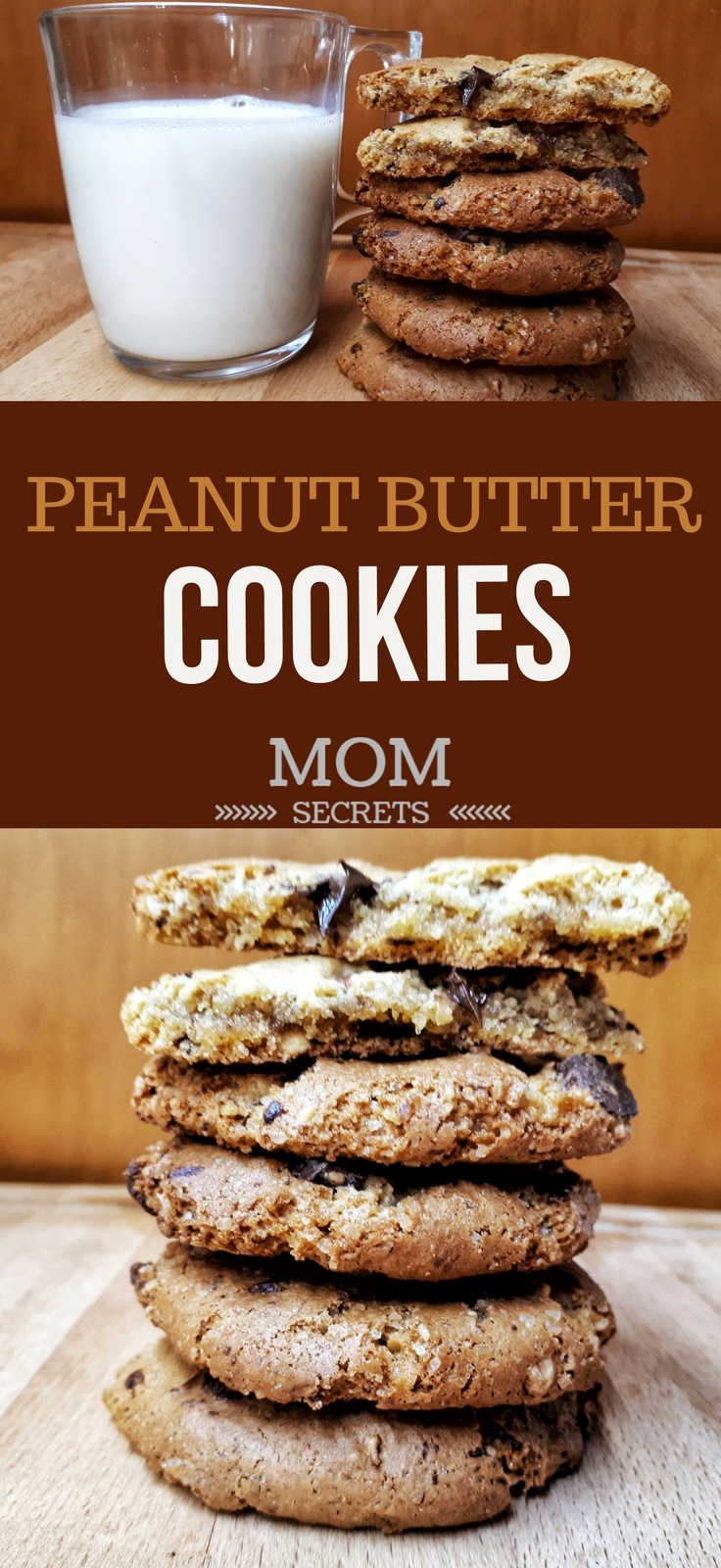 This week I have made some easy, crispy and chewy recipe of peanut butter cookies with chocolate chips. This time I use dark and milk chocolate. These cookies are extra soft and incredibly tasty!
