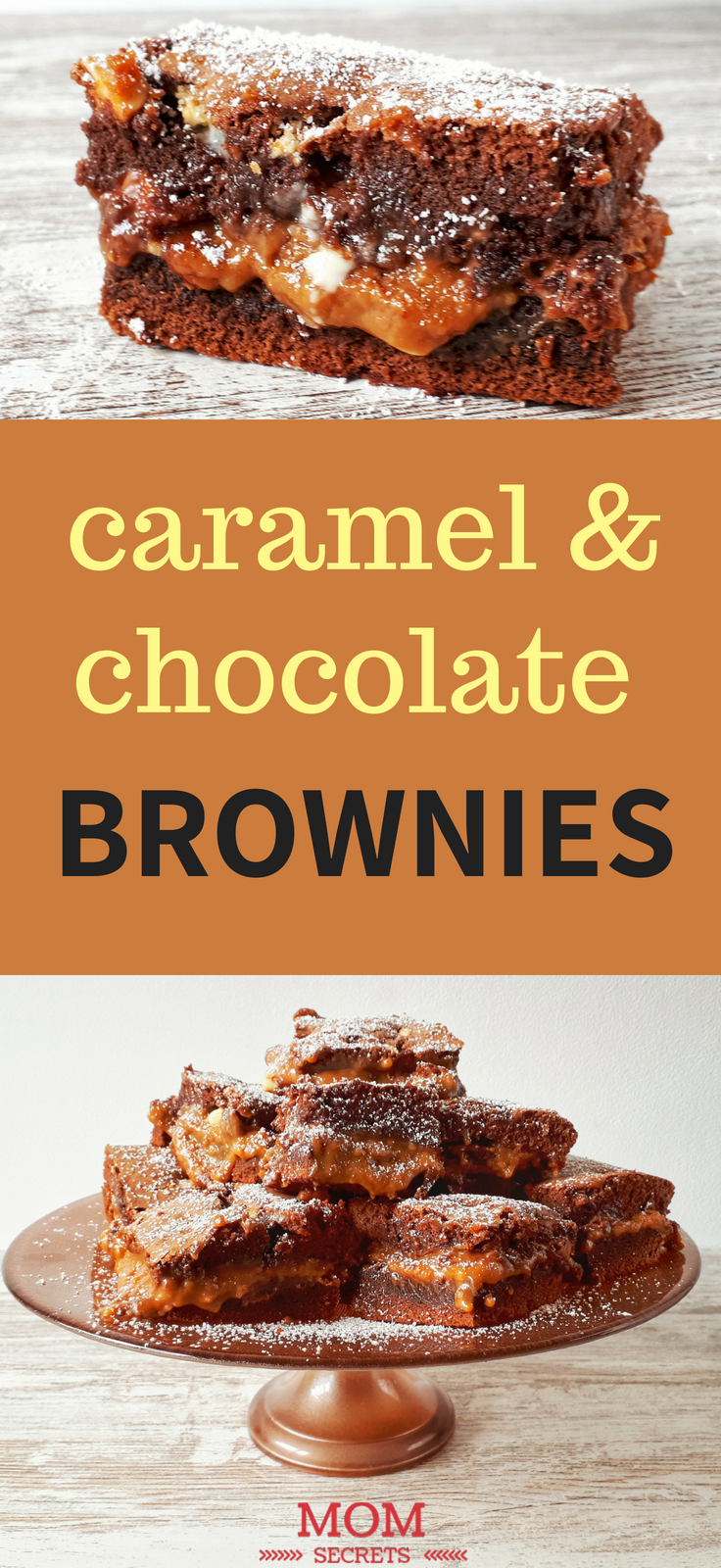 These homemade brownies are not only super fudges but also chewy and gooey. Each brownie comes full of melted caramel lava chunks throughout. Don´t miss this step by step recipe. You will love it!!