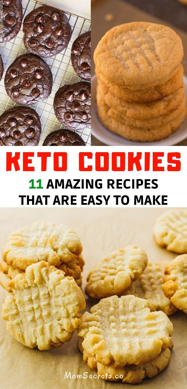 These cookies recipes have delicious flavors. They are easy and quick to make and they are low carb, sugar-free, gluten-free! #keto #cookies #ketocookies