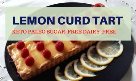 Low Carb & Sugar-Free Keto Lemon Curd Tart