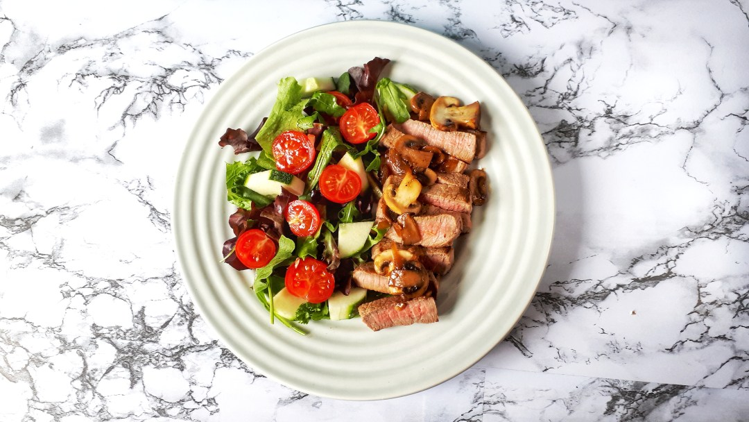 Enjoy this keto, low carb, easy and healthy grilled steak with mushrooms gravy recipe. This steak makes a perfect keto dinner!!