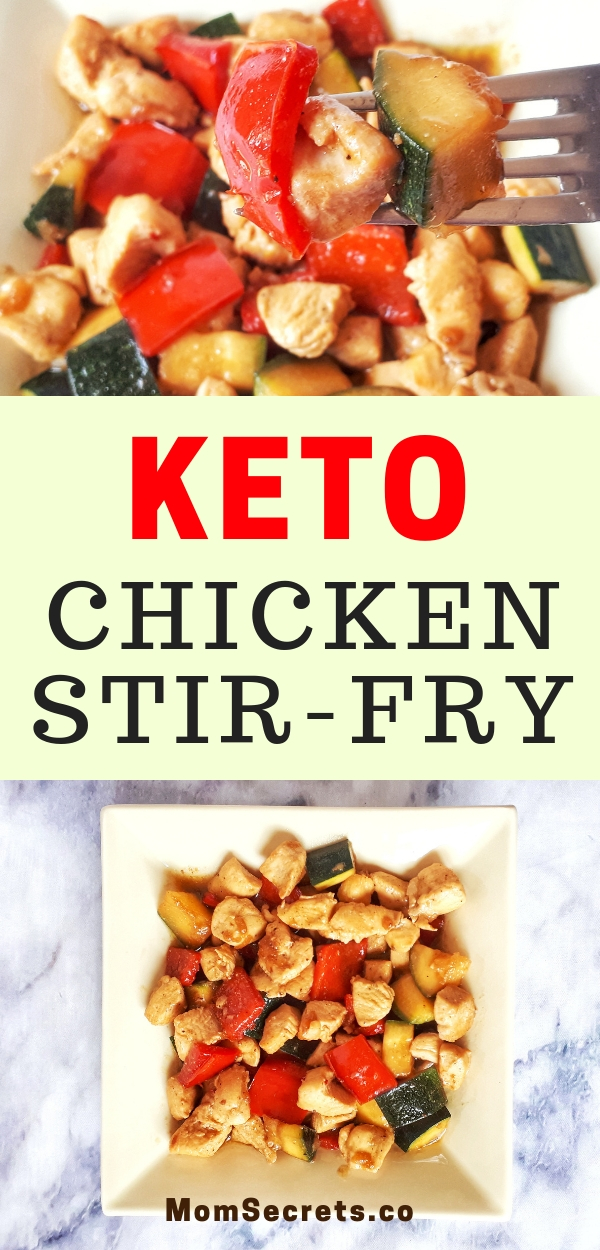 Chicken Stir-Fry with vegetables is a low carb, keto and healthy easy dinner that is ready in less than 30 minutes, perfect for those busy weeknights.