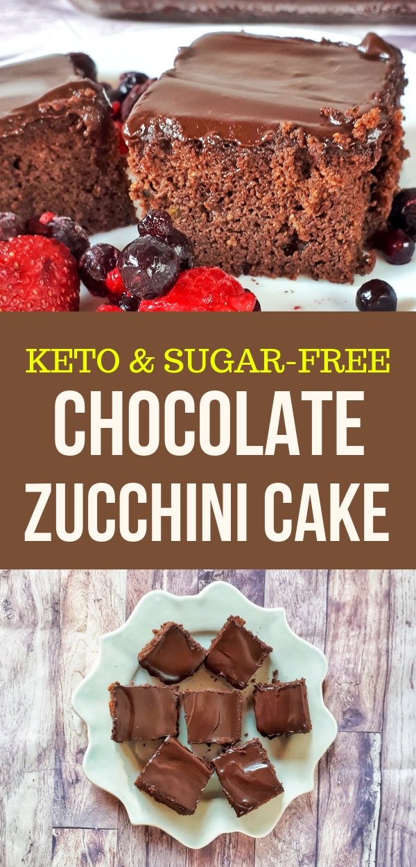 This chocolate zucchini cake is the best keto, low carb, sugar-free andgluten-free recipe ever. Chocolate zucchini cake is moist and tastes amazing.