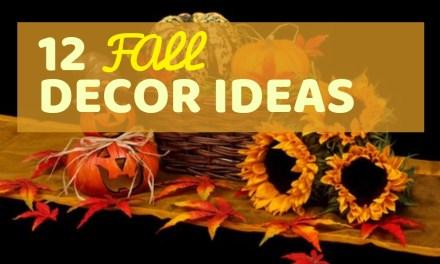 12 Fall Decor Ideas