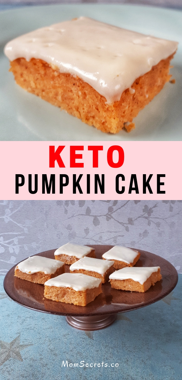 Pumpkin cake with cream cheese frosting is keto, low carb, gluten-free and sugar-free. It is so fluffy, moist and amazingly delicious. Simply the BEST!