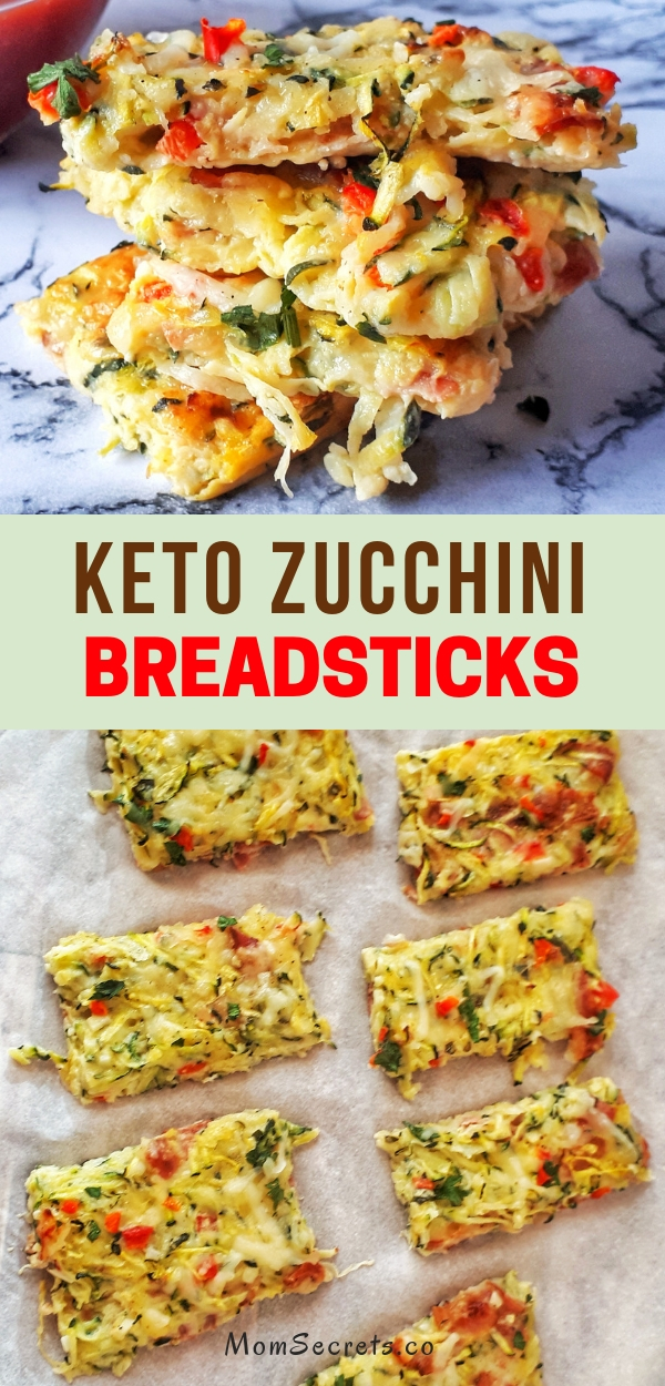 Keto Zucchini Breadsticks makes a perfect appetizer or a side dish for a low carb, healthy and grain-free meal that is ready in 30 minutes.