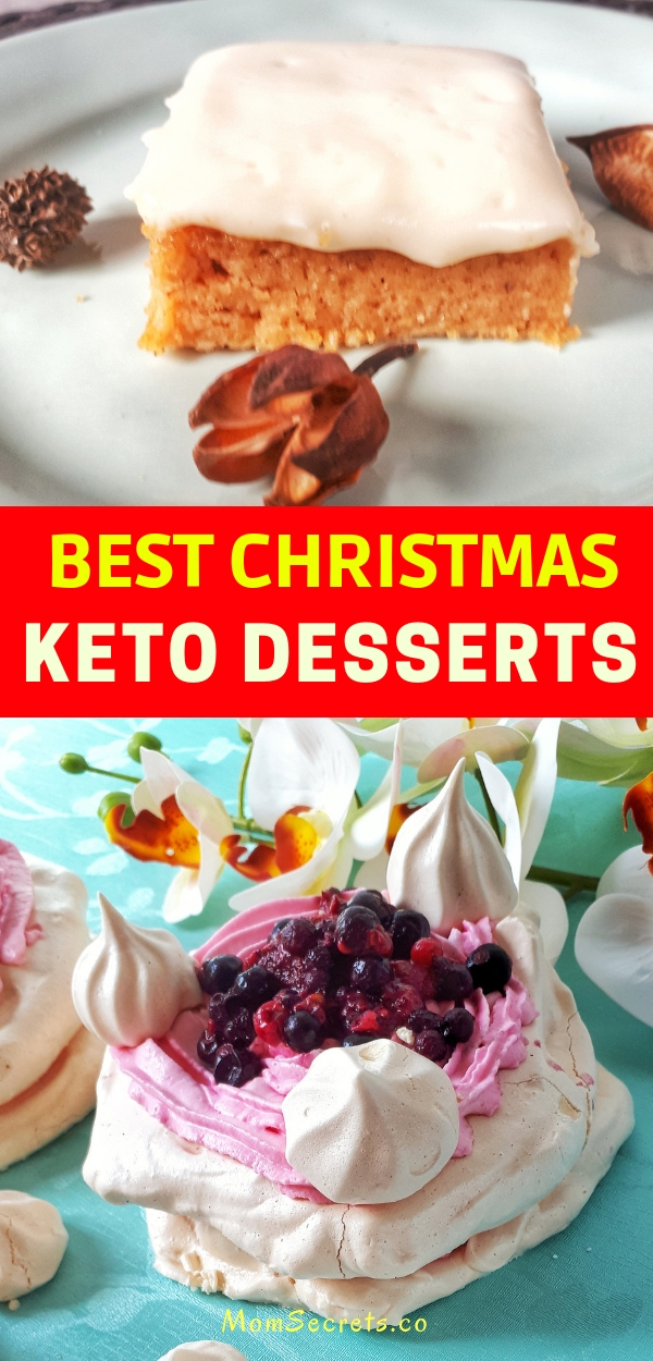 Here you can find the best low carb, gluten-free and keto desserts recipes for your Christmas Eve that includes awesome cookies and cakes.