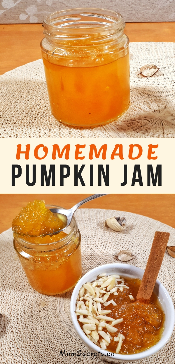 This homemade pumpkin jam recipe made with a spicy flavor is perfect for tarts, pies or slathered on toast in the morning breakfast. This jam is delicious!