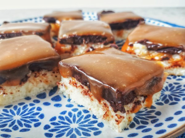 No-bake coconut bars made with homemade condensed milk are an easy, healthy and keto delicious dessert that can satisfy your craving for sweet!
