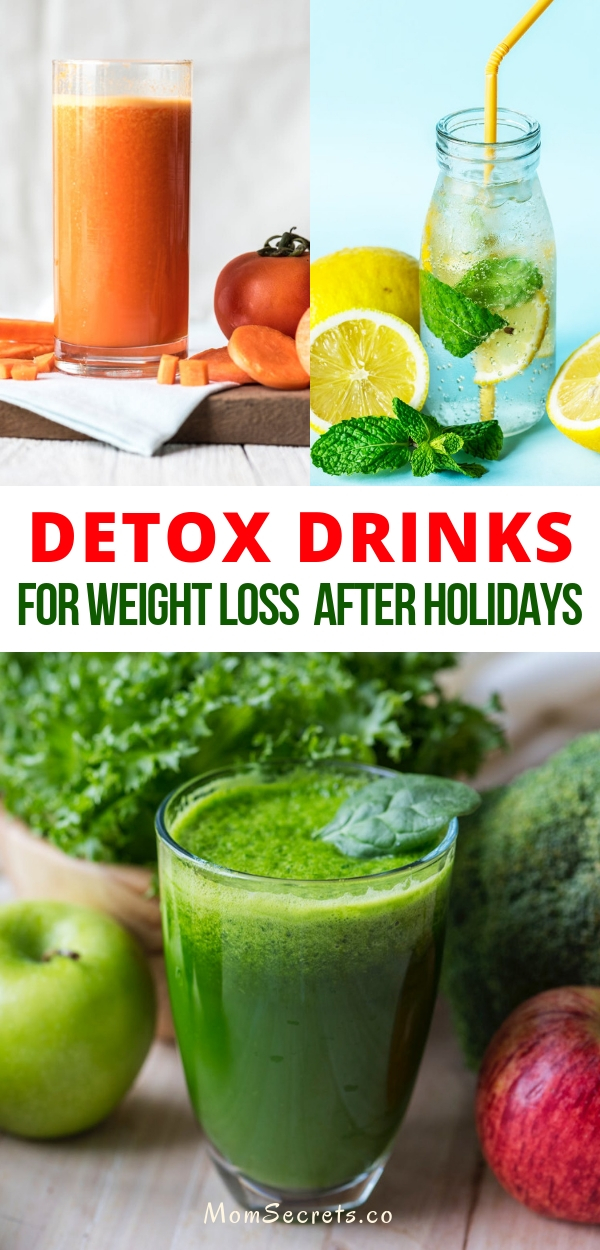 So if you feel guilty of overeating during the holidays here you can find 5 delicious and easy to make detox drinks to get rid of the pounds won during the holidays!